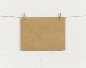 Envelopes 10pk, C6X 164 x 121mm, Natural Kraft