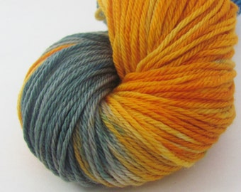 Hand Dyed Worsted Yarn in Dyepot Anarchy