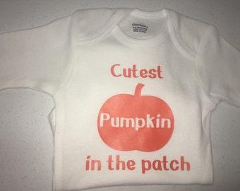 Cutest Pumpkin baby onesie