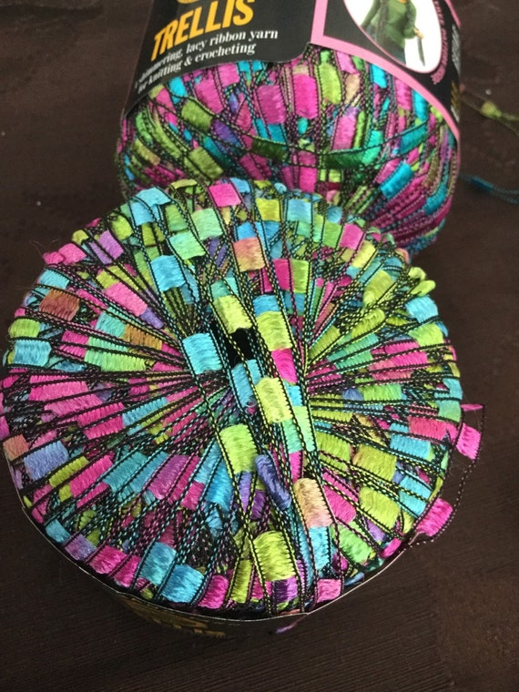 lion brand trellis in stained glass 100 nylon full skein
