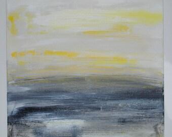 Yellow Grey Landscape