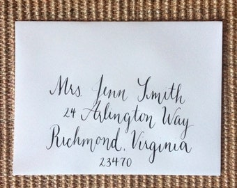 Glam Font Envelope Addressing - Custom Handwritten Calligraphy