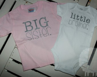 Big Sister Little Brother Tee Set