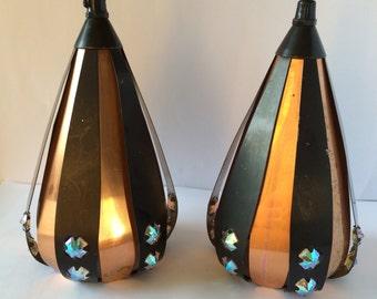 Danish design copper lamps / The drop / Werner Schou / Coronell / Denmark / Scandinavia 1960s