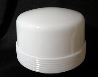 4 Inch Glass Ceiling Light Fixture Cover, Art Deco White Glass Globe