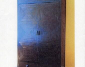 Solid teak armoire , wardrobe closet , Solid teak and bamboo slats armoire , wardrobe closet