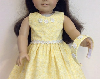 American Girl Doll Clothes American Girl Doll Dress 18 Inch Doll Clothes American Girl Clothes Party Dress with Headband