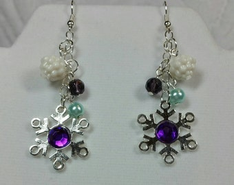 Snowflake Dangles Earrings