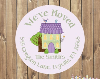Personalized 'We Have Moved' Address Labels, Address Stickers, Address Labels, Envelope Stickers, Custom Stickers, Bespoke Stickers