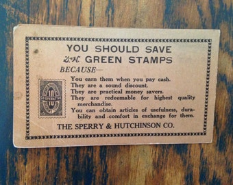 Green Stamps needle kit ~ vintage advertising