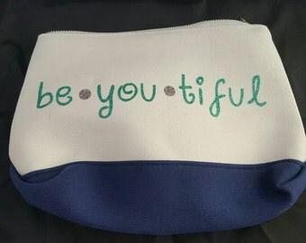 Be*YOU*tiful cosmetics bag