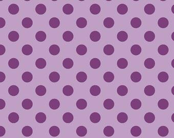Medium Dot - Tone on Tone Lavendar/Lavender - Riley Blake - The RBD Designers - Polka Dots - 100% Cotton Fabric- C430-120 - Purple Polkadot