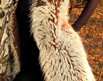 Wool Vest /Winter Jacket/Wool Curls Vest/Waistcoat/Wrap/Organic Wool/Handmade/Natural Wool Vest/ Boho/Warm Vest