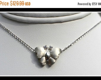 ON SALE 925 Sterling Silver Butterfly Pendant