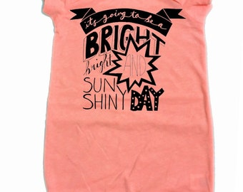 BRIGHT SUNSHINY DAY onesie romper