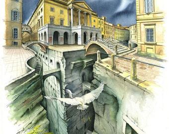 Piacenza-the municipal theatre-digital printing