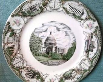 Vintage Washington DC Plate