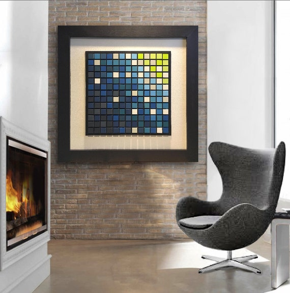 Wood Wall Art Large Acrylic Painting On Wood Earth Tone Color