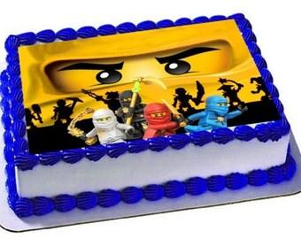 Lego Ninjago Edible Cake Topper, Icing Sheets, Lego Ninjago Birthday