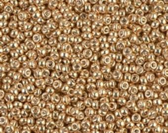 11/0 Galvanized Gold  #1052  Miyuki Seed Beads - 10 grams