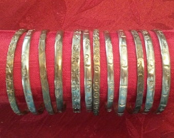 Vintage Taxco Sterling Silver Bangle Bracelet