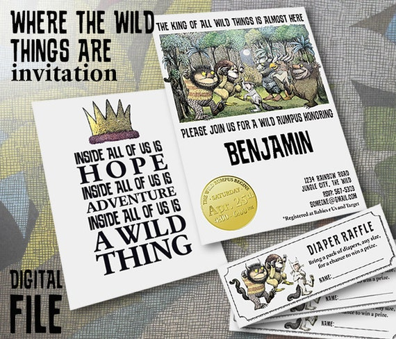 Where The Wild Things Are: Theme Baby Shower Invitation