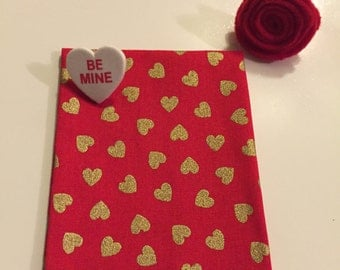 True red Valentine's Day pocket square