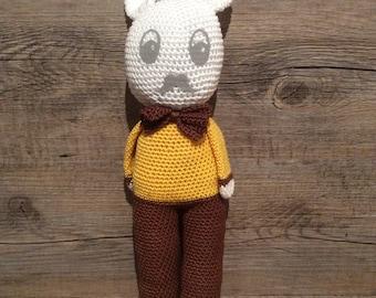 Snowman Doudou yellow-brown