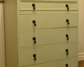 Pretty Hand-Painted Chest of Drawers
