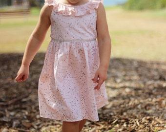 Aria party Dress - toddler dress - birthday dress - party dress - summer dress - toddler dress - tie back dress - pink dress - girls dress