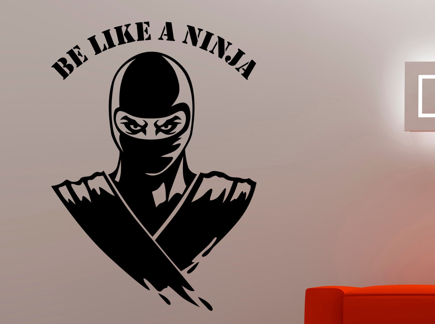 Ninja Wall Decal Ninja Warrior Sticker Home Interior Design