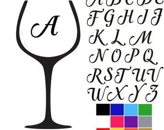 Wine Glass Decal Decal For Wine Glass Wine And Laughs - Vinyl decals for wine glasses uk
