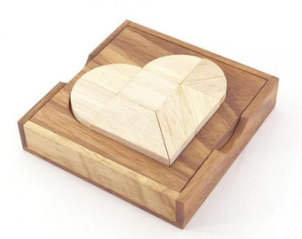Heart Tangram Wooden Puzzle