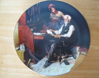 "Vintage Norman Rockwell Plate ""The Love Letters"" 1989"