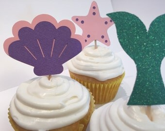 Under The Sea Mermaid Cupcake Toppers