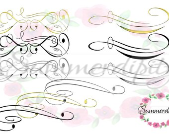 Scroll Flourishes Clipart