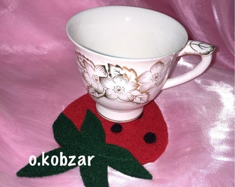 Coaster felt / sous verre / strawberry / fraise