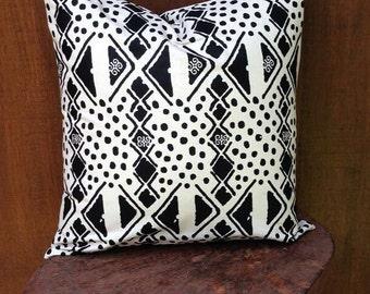 B & W African print pillow cover/ ankara pillow /