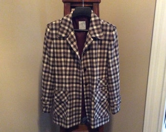 Plaid Brown Clifford and Wills jacket