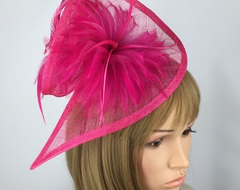 Fuchsia Pink fascinator hot pink fascinator Ladies Day fascinator Hat Occasion Wedding Ascot mother of the bride prom