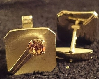 Vintage Gold Cuff Links NEW Condition
