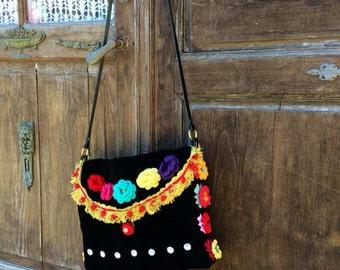 Gypsy Flowers bag. Bag Gypsy Queen. Hand made. Unique creation.