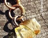 YELLOW APATITE CRYSTAL necklace >> Sunna >> Sun Goddess