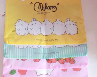 Kawaii/ Cute Molang A4 folder/pvc Pouch