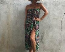 Beach sarong,Super luxury Wrap,evening,swimsuit cover up,Animal Print,resort ,Tassel wear,shawl,sexy,elegant,snake skin print