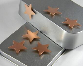 Copper Metal Star Magnets - Refrigerator Magnet - Metal Magnet - Copper Star - Kitchen Magnets - Copper Magnet Set - Gift Set - CST01