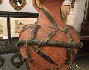 SOLD: Monumental Japanese Terracotta Potter's Wheel Vase