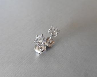 SALE **  Diamond Solitaire Earrings  ** SALE