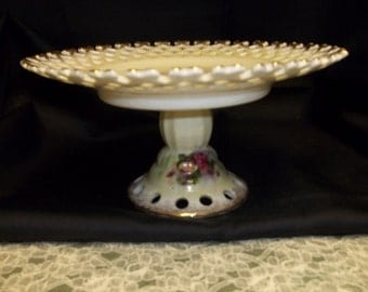 Ucagco China Pedestal Dish Vintage Item #1915