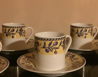 Porcelain Espresso /Coffee Cups and saucers
